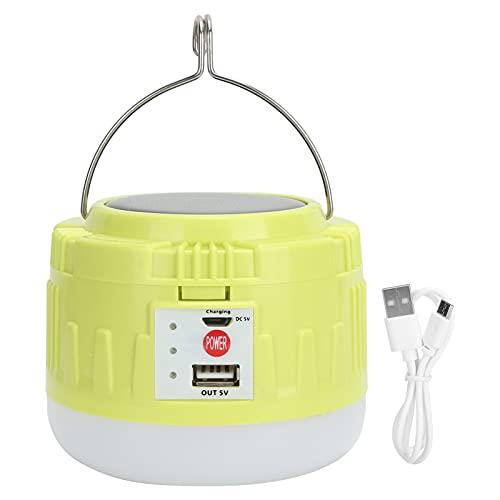 Lámpara solar LED para acampar, 4 modos de iluminación Lámpara LED inalámbrica IP44 Impermeable, portátil, al aire libre, carga USB, descarga, linterna para acampar, luz de emergencia para huracanes,