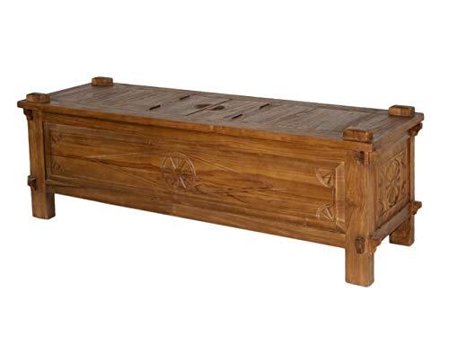 Soma salontafel met geheim vak, antiek-house, ca. 130 jaar oud (b x h x l): 50 x 50 x 150 cm.