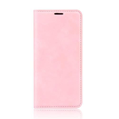 IMOK Leder Folio Hülle für Samsung Galaxy S21 FE, Magnetverschluss Full Protection Book Style Brieftasche Flip Cover mit [Kickstand] & [Kartensteckplätzen], PU/TPU Hülle Phone Shell-Rosa