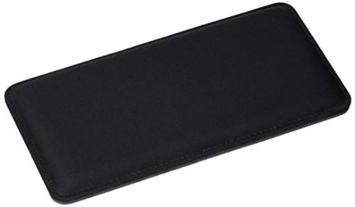 "The Gamer Plug - Gaming Mouse Wrist Rest Pad - Black - Stitched Edges - Memory Foam - 8"" x 4"" x 0.5"" (Mouse, Slim)"