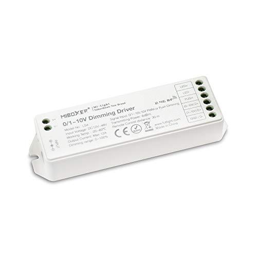 Kingled - Mi Light MiBoxer Ricevitore Dimmer 0/1-10V, 10V PWM, PUSH 12/24V 12A WiFi Mi-Light LS4 Cod 2442