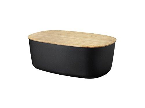 RIG-TIG by Stelton Z00038 Box-It Brotkasten, Melamin, Bambus, schwarz, 34,5 x 23,5 x 13,0 cm