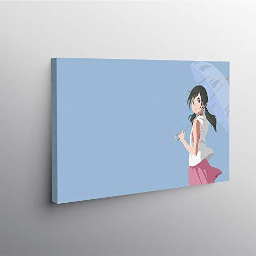 PLjVU Anime Wall Art Poster Tela Soggiorno casa Camera da Letto Studio dormitorio Art-Senza telaio90x50cm