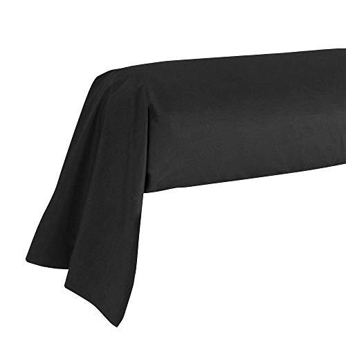 Atmosphère 560217 Taie de Traversin Noir Atmo 85 x 185 cm