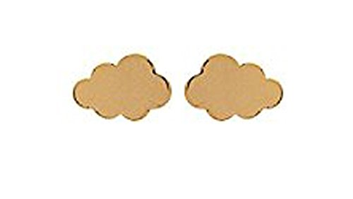 Ohrstecker mit Chips vergoldet Form Cloud–Schmuck Damen oder Kinder Mädchen