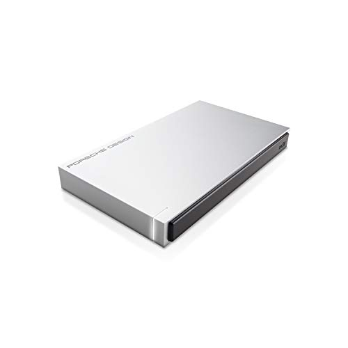 LaCie STET1000400 Porsche Design Mobile Drive 1 TB Externe Performance und Design Festplatte (6,4 cm (2,5 Zoll) im Aluminiumgehäuse, USB 3.0, Ready for MAC und PC) light grey