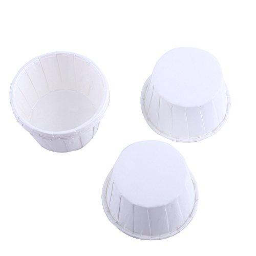 100er Cupcake Förmchen Papier Kuchen Cupcake Liner Fall Wrapper Muffin Baking Cup für Party Hochzeit Weihnachten 7 Farben(Weiß)