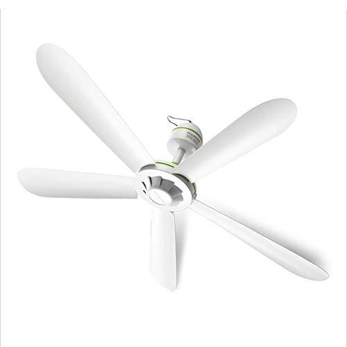 ZXZJ Ventilador, sala de estar en casa ventilador de techo silencioso, dormitorio mosquitero ventilador silencioso de 5 hojas, 220V, 20W No lastimes tu mano/blanco / 70Cm