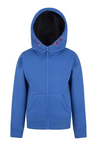 Mountain Warehouse Nordic Gefütterter Kinder-Hoodie mit Reißverschluss Blau 164 (13 Jahre)