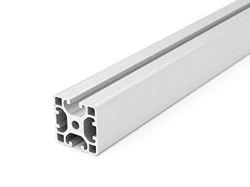Designprofil/Aluminiumprofil 40x40L 2N 180 Grad I-Typ Nut 8 - Zuschnitt 50mm-2000mm (16,00 EUR/m + 0,50 EUR pro Schnitt, min. 2,50 EUR) 50mm