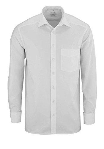 OLYMP Luxor Hemd Langarm mit New Kent Kragen [Textilien], Weiß, Gr. 44