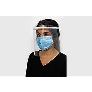 31 aMVWsShL. SS300  - Pantalla de Protección Facial - UNE-EN 166:2002 - Campo de visión completo - Fabricado en España (1, Adulto)