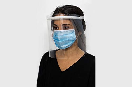 Pantalla de Protección Facial - UNE-EN 166:2002 - Campo de visión completo - Fabricado en España (1, Adulto) ✅