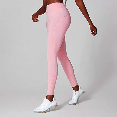 HPPLYoga Broek Professionele Gym Leggings Push Up Leggings Sport Dames Fitness Dry Fit Dames Joggingbroek Roze Groen, Roze, M