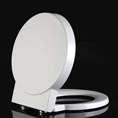 Dongbin Toilettendeckel Mit Antibakteriellem Harnstoff-Formaldehyd-Harz Stumm Verdicken Toilettensitz-Abdeckung Für Runde Form-Toilette,Weiß
