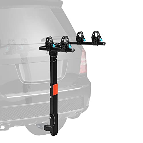 XCAR 2-Bike Universal Hitch Mounted Bike Carrier Rack for Car Trailer with 2