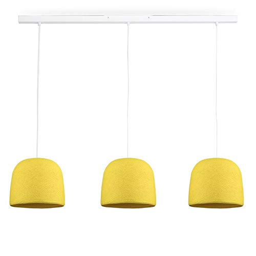 Rail Blanc 3 Cloches Jaune