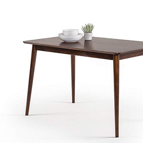 ZINUS Jen Mesa de comedor de madera de 120cm | Mesa de cocina de madera maciza | Montaje sencillo, espresso