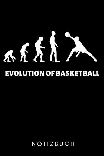 EVOLUTION OF BASKETBALLER NOTIZBUCH: A5 WOCHENKALENDER Basketballbuch | Basketballer Geschenke | Zubehoer | Sport | Training | Basketballbuecher | Geschenkideen für Kinder und Sportler
