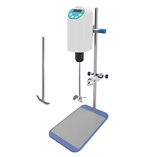 JOANLAB Digital Overhead Stirrer Heavy Duty Laboratory Mixer Electric Industrial Liquid Mixer,2000Rpm (20L)