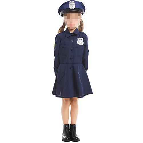 kMOoz Cosplay kostuum, halloween Outfit,kids Halloween Heks Fancy Adress Kostuum Cosplay Halloween Party, kinderen Dress Up Kostuum Cosplay Leuke Politie Uniform Meisjes Een stuk Politie Rok