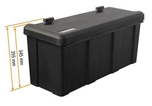 Blackit L - 750 x 300 x 355 mm, Deichselbox mit 2 Schlösser, Werkzeugkasten für Anhänger Staukiste 50 ltr Anhängerbox, Daken B50-2 - 3