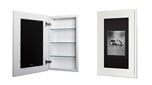 14x24 Recessed Concealed Medicine Cabinet (White)