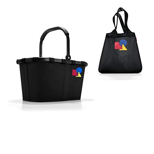 reisenthel Carrybag – Dekor Bauhaus NO. ONE Frame red   100 Jahre Bauhaus Jubiläum   Kollektion (Frame Black + Mini Maxi Shopper)