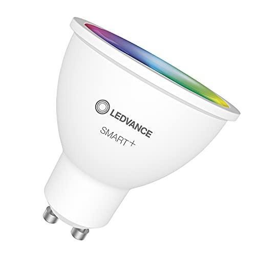 LEDVANCE Lámpara reflectora LED inteligente con tecnología WiFi, base GU10, color de luz intercambiable(2700-6500K), colores RGB intercambiables, regulable, reemplazo de 32W, SMART+ SPOT, paquete de 3