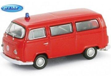 Modellauto 1972 VW Bus T2 Feuerwehr, Modellautos, Maßstab 1:87, Welly