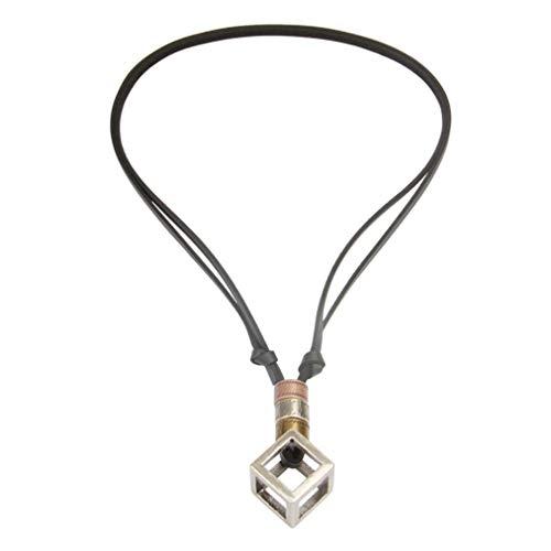 ZYYXB Pulseras de cadena geométricas vintage de plata, pulsera rectangular con letras punk rock, hip hop, unisex, regalo de joyería, cuerda de cuero negro