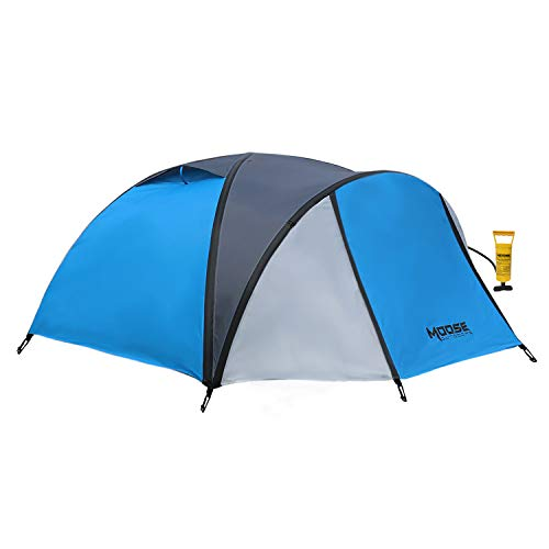 MOOSE OUTDOORS Inflatable Tent, Family Tent for Camping, Air Tent for 4 Person, Instant Set Up Under 3 Minutes, Windproof and Waterproof with Sewn-in Groundsheet (T-2041)