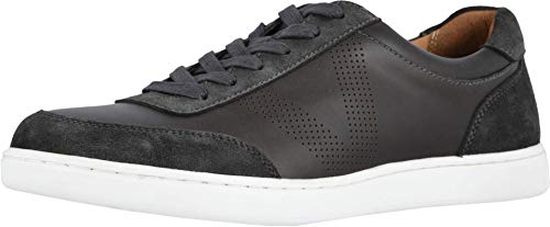 Vionic Men's Mott Brok Lace Up Sneaker - Leather Walking Shoes with Concealed Orthotic Arch Support Greige 8 Medium US
