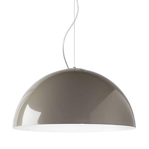 Lampada a sospensione moderna in metallo E27, Diametro 40cm - 60cm, (Tortora/Bianco, 40cm)