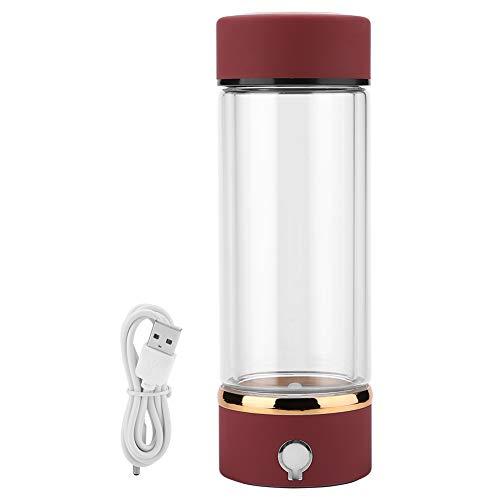 Yencoly Wasserstoff-Wasser-Generator, 420 ml wasserstoffreiche Wasserflasche Tragbare USB-Wasserstoff-Ionisator-Generator-Hersteller-Serviergeschirr-Wasserstoff-Wasserflasche