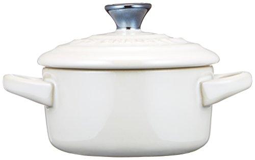 ルクルーゼ ペア プチ ココット スプーン付き 耐熱 容器 チェリーレッド & ホワイトラスター 910385-00-435