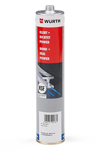 WÜRTH Konstruktionsklebstoff Klebt + Dichtet POWER grau 300ML Alleskleber