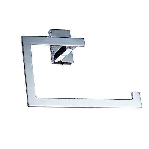 SYDDP Toallero de latón para Montar en la Pared, Acabado Cromado Pulido, Base Cuadrada, Accesorios de baño para toallero de baño