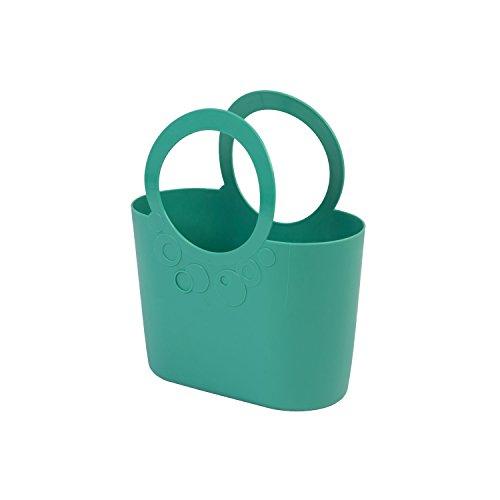 moderne Handtasche 3,8 L Picknickkorb türkis Size M Griffe Lily Strandtasche Tasche Basket