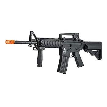 LANCER TACTICAL Gen 2 Upgraded RIS LT-04 AEG Metal Gear Airsoft Gun Black