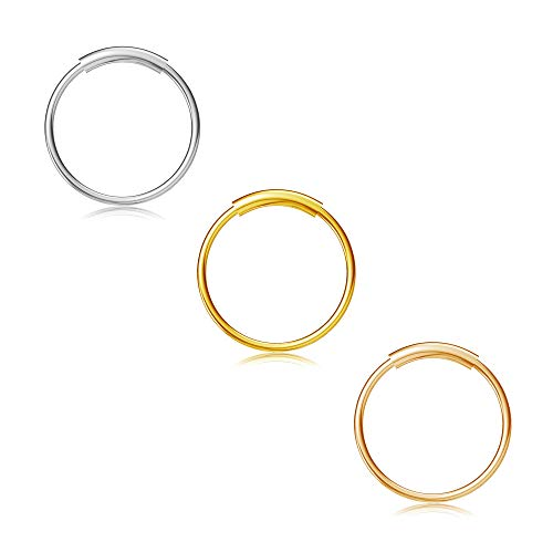 Nose Rings Hoop Titanium Nose Ring Body Piercing Round Set Jewelry for Women 8mm