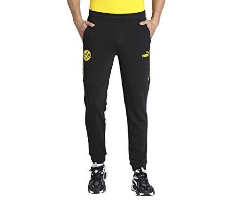 PUMA Herren BVB ftblCulture Track Pants Jogginghose, Black-Cyber Yellow, M