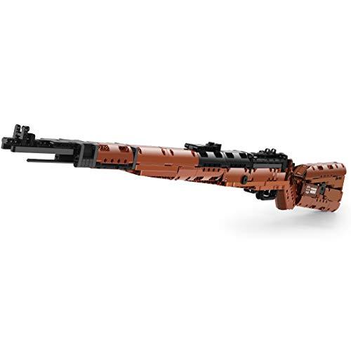 Oeasy Technik Gewehr Bausteine Bausatz, 1025 Klemmbausteine 98K Blaster Modell mit Bullets, Kompatibel mit Lego