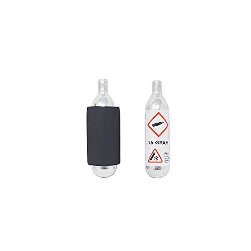 DRULINE Mini CO2 Kartusche Luftpumpe CO2-Fahrrad-Luftpumpe Reifenpumpe Ideal zum mitnehmen unterwegs Ventil 3er Set | L x B x H 2 x 2 x 9 cm | Silber, Schwarz