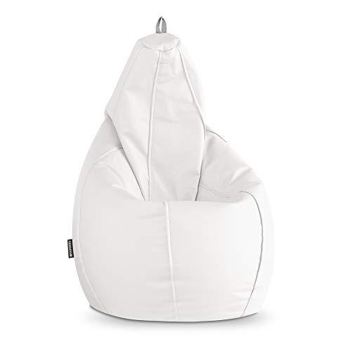 HAPPERS Puff Pera Polipiel Interior Blanco XL