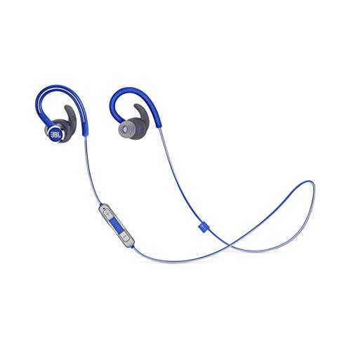 JBL Reflect Contour 2.0 In-Ear-Kopfhörer, kabellos, 3-Tasten-Mikrofon / Fernbedienung, Blau
