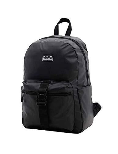 TANC School Bookbag Students Backpack Basic Casual Daypack Water-resistant Capable Backpack Light-weight Bag for Men Women Teens,Black