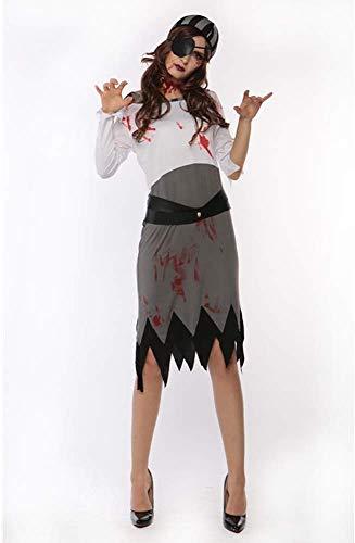 XIAOXIAO Disfraces de Halloween, Horror Traje de Diablo Vampiro Mujer Pirata Zombi...