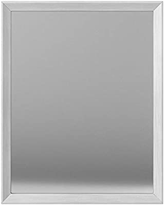 AmazonBasics Rectangular Wall Mirror 41 x 51 cm - Peaked Trim, Nickel