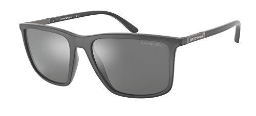 Emporio Armani Gafas de Sol EA 4161 Matte Grey/Grey 57/18/145 hombre